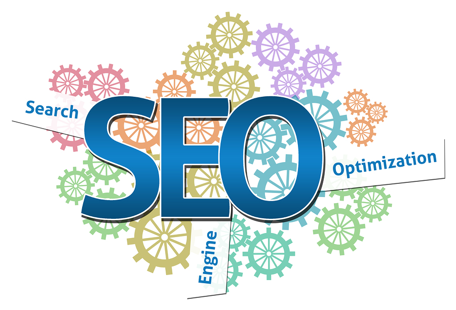 SEO gears identifying search, engine, and optimization